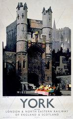 'York - Monk Bar'  LNER poster  1923-1947.