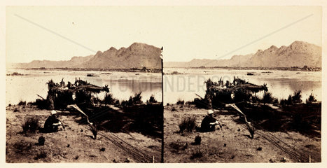 'Cotton Spinning at Kolbe - Ethiopia'  1859.