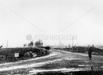 Shrapnel corner  Western front  France  October 1917.