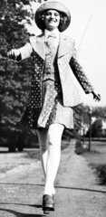 Polka dot minidress  May 1972.