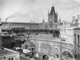 Bristol Temple Meads Station from the GWR's old Control Office  1934.