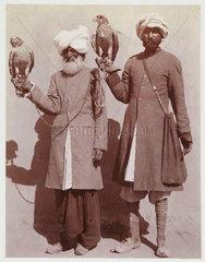 Indian falconers  c 1912.