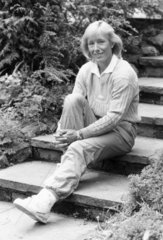 Martina Navratilova  Czech/American tennis player  June 1987.