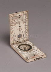 Tablet sundial  late 16th century.