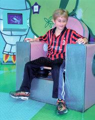 Adjustable chair exhibit  'Things' Gallery  Science Museum  London  2000.