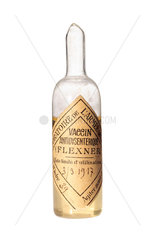 Ampoule of dysentery vaccine  c 1916.