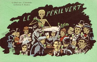 'Le Peril Vert - L'Absinthe'  c 1910.