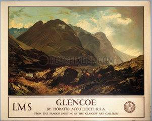 'Glencoe'  LMS poster  c 1940s.