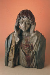 Wooden statue of St Livertin  French  17th century.