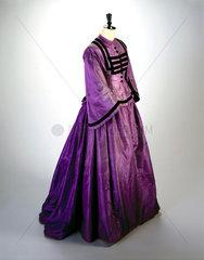 Silk dress  c 1862.