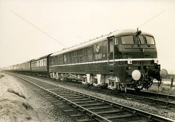 Locomotive fitted with a Metropolitan-Vickers jet engine  c 1950s.