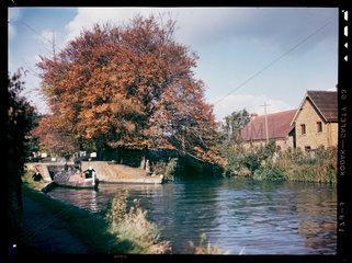 Canal lock  c 1945.