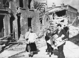 Homeless people  Second World War  1940.