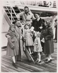 Returning from Australia  1951.