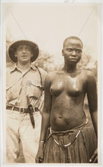 European man and African woman  c 1925.