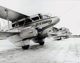 Railway Air Services aircraft at Croydon Airport  1935.