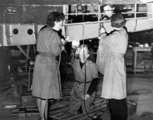 Women at aeroplane training school  31 Marc