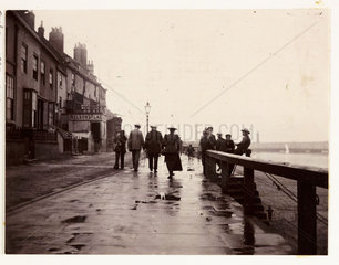 Whitby seafront  North Yorkshire  c 1905.