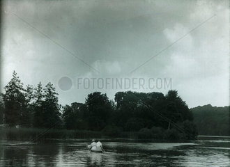 Boat on a lake  c 1910-1915.