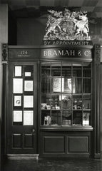 Shopfront of Bramah & Co  display in Science Museum  London.