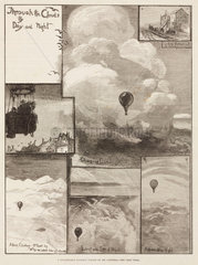 'A Remarkable Balloon Voyage by Mr Coxwell'  1881.
