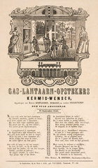 Gas lamplighters in Amsterdam  poster  1848.