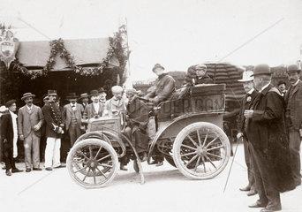 C S Rolls' car  tourist section winner of the Bordeaux-Biarritz race  France  1899.