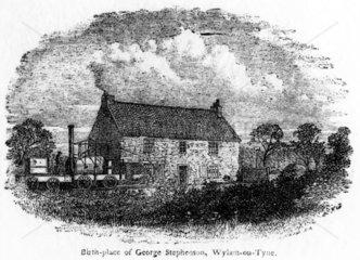 'Birthplace of George Stephenson  Wylam-on-Tyne'  c 1881.