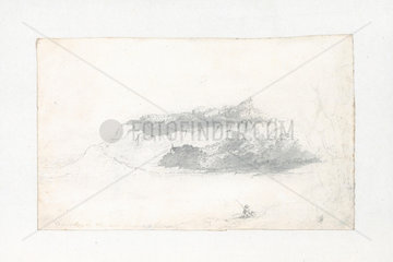 Landscape roughed in show cumulaic heap similar to tops of trees  1803-1811.