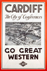 'Cardiff - The City of Conferences'  GWR poster  1923-1947.