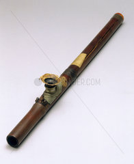 Bamboo opium pipe  19th century. Cyclindr
