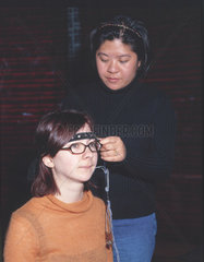 Demonstration of the 'Mind Switch'  Who am I? Gallery  Science Museum  2001.