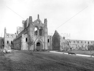 View of the West Front of Kirkstall Abbey  Leeds  c 1900.