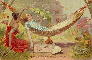 'Heures de Loisirs aux Colonies'  c 1900.