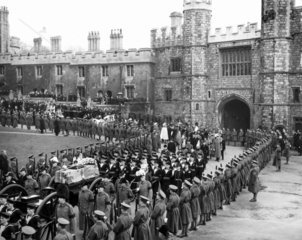 King George V's funeral  Windsor  28 January 1936.
