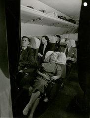 Passengers travelling on the new De Havilland Comet 1  1951.