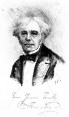 Michael Faraday  English physicist.  c 1850.