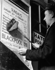 Posting a notice of forthcoming excursions  1937.