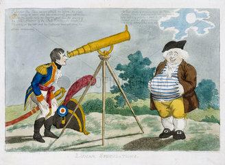 'Lunar Speculations'  1803.