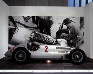 Mercedes-Benz (M-B) W154 racing car  c 1938.