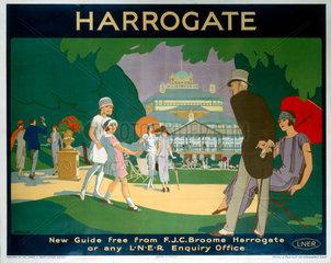 'Harrogate'  LNER poster  1925.