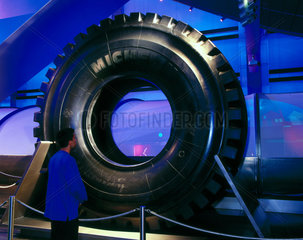 The Michelin giant tyre  Wellcome Wing  Science Museum  2000.