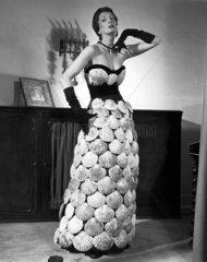 Model wearing 'Sea Shell Dress'  20 June 1950.