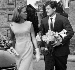Edward and Joan Kennedy visit Chatsworth House  May 1965.