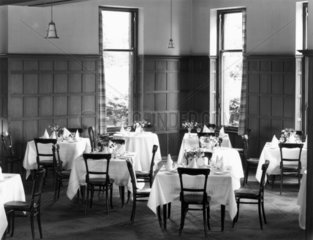 Dining room of the Highland Hotel in