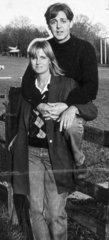Paul and Linda McCartney  October 1984.