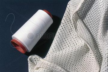 The first sample of 100 per cent spun Terylene yarn  c 1949.