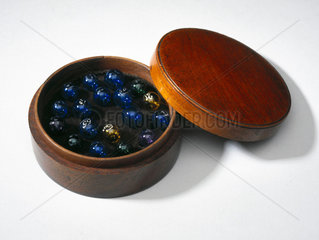 Glass bubbles for testing proof spirits  c 1840-1850.