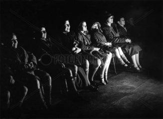 Children watching a Mickey Mouse film  5 January 1934.