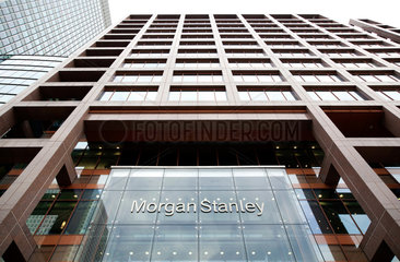 London  Grossbritannien  Morgan Stanley Bank im Wirtschaftszentrum Canary Wharf in den Docklands